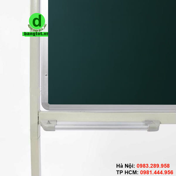 Khung bảng di động 2 mặt từ xanh làm bằng nhôm, 4 góc bịt nhựa