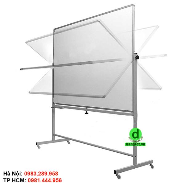 Bảng từ 2 mặt có thể xoay 360 độ, sử dụng 2 mặt tạo sự thuận tiện cho người dùng