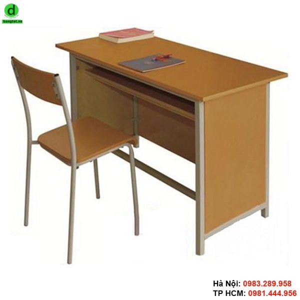 Bàn ghế giáo viên bằng gỗ