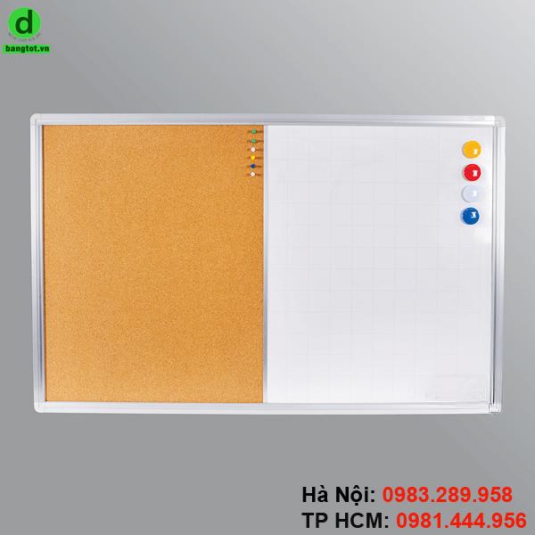 Bảng combo ghim lie là loại bảng kết hợp 2 loại bảng với nhau là bảng từ trắng và bảng ghim lie.