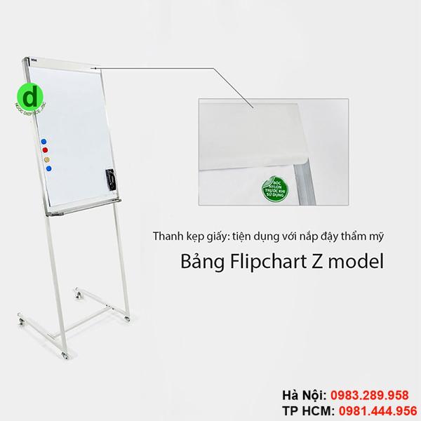 Bảng flipchart có thanh kẹp giấy chắc chắn