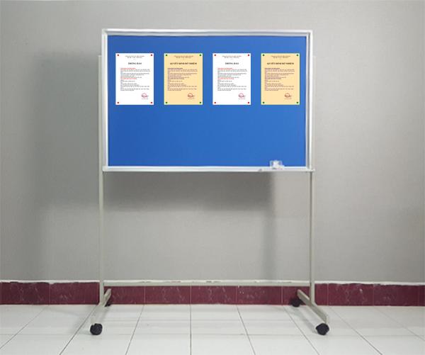 Bảng ghim có chân Basic được dùng nhiều cho các trường học, văn phòng công ty và gia đình.