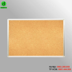 Bảng lie ghim treo tường có khung nhôm chắc chắn