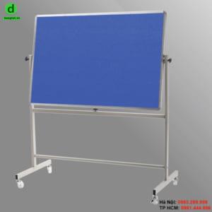 Bảng lật 2 mặt ghim được dùng nhiều cho các trường học, văn phòng công ty và gia đình.