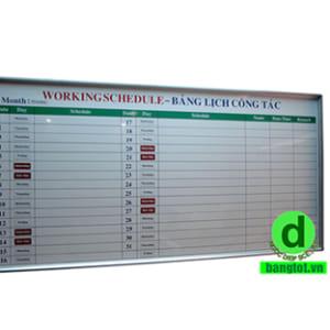 Bảng lịch công tác tháng
