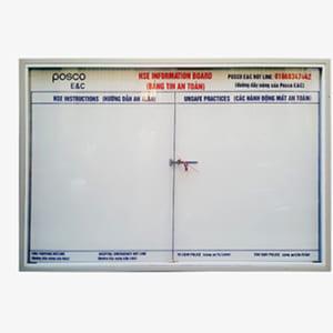 Bảng thông tin treo tường kính lùa có khóa