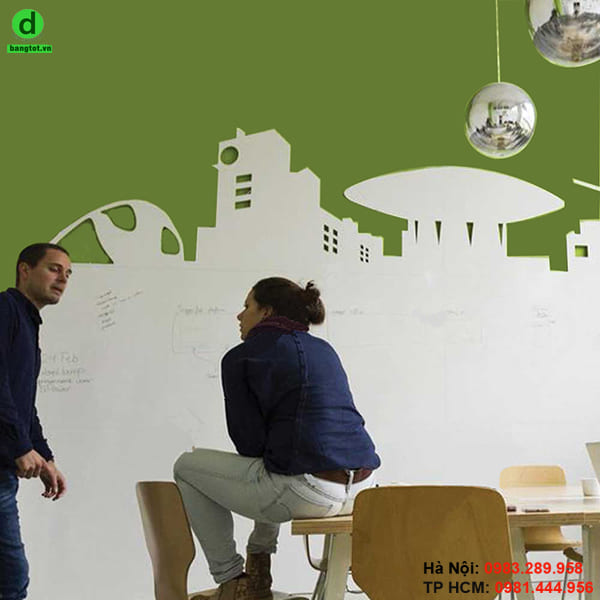 Bảng trắng dán tường mang lại sự sang trọng, đẳng cấp cho căn phòng