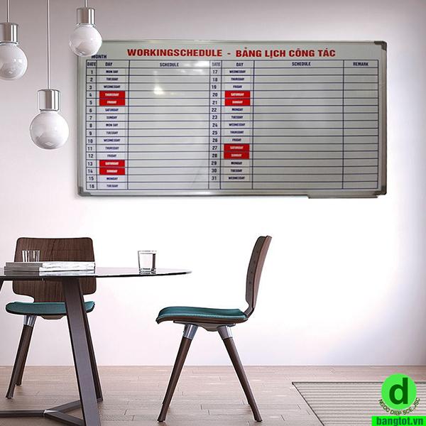 Bảng kế hoạch làm việc tháng
