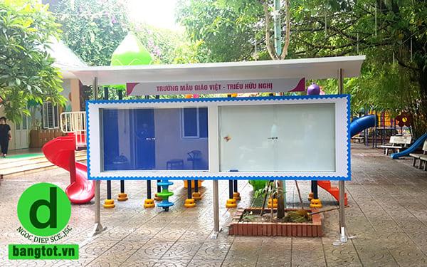 Bảng thông tin ngoài trời trường mẫu giáo Việt Triều