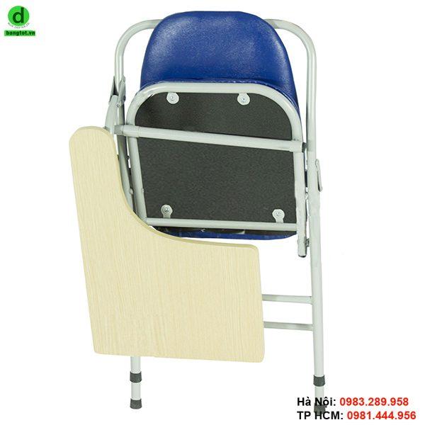 Ghế liền bàn gấp gọn dễ dàng sau khi sử dụng
