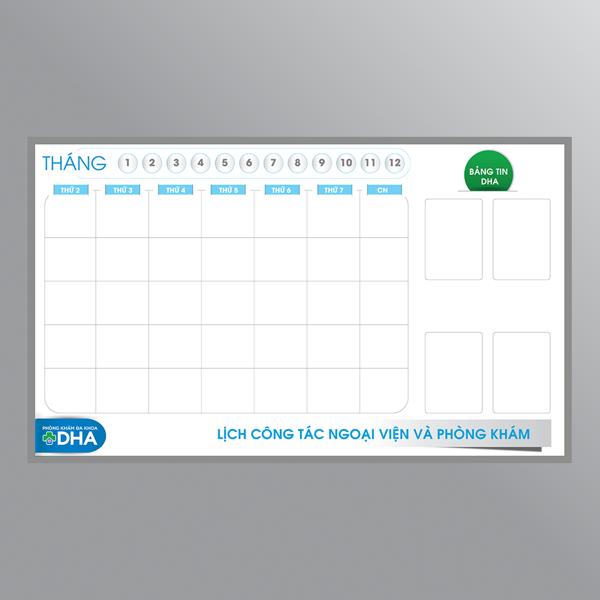 Bảng lịch công tác phòng khám