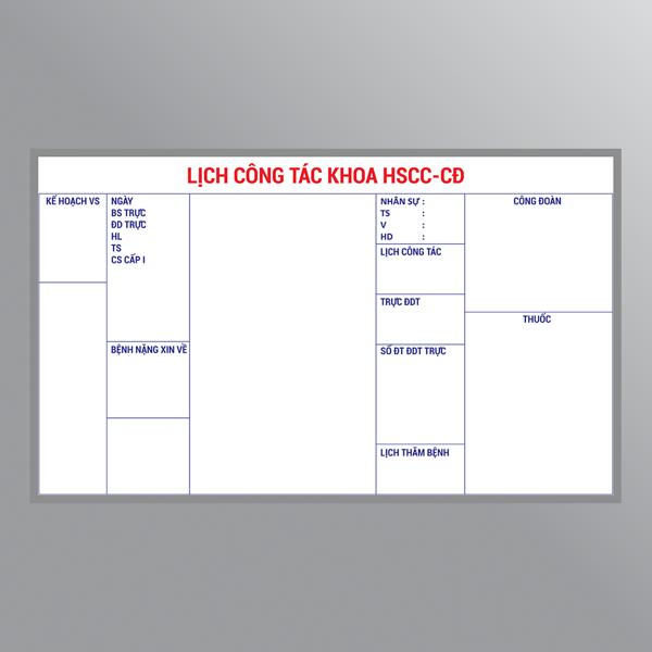 Bảng sơ đồ hội đồng điều dưỡng dán decal
