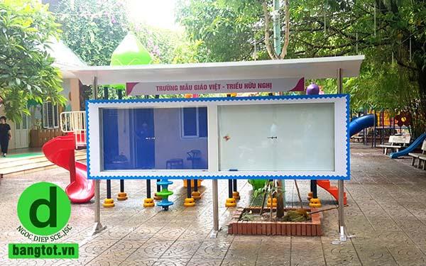 LĐ bảng thông tin ngoài trời trường mẫu giáo Việt Triều