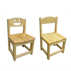 Ghế mầm non gỗ thông cho bé