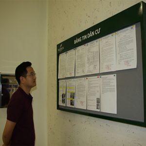 Bảng thông tin treo tường dùng cho các tòa nhà, chung cư