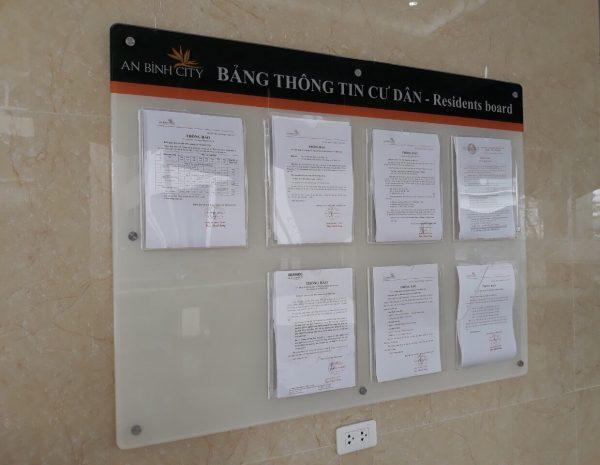 Lắp bảng thông tin cư dân