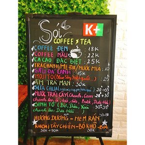 Bảng dạ quang menu nhà hàng
