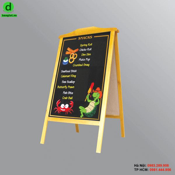 Bảng đen ghi menu