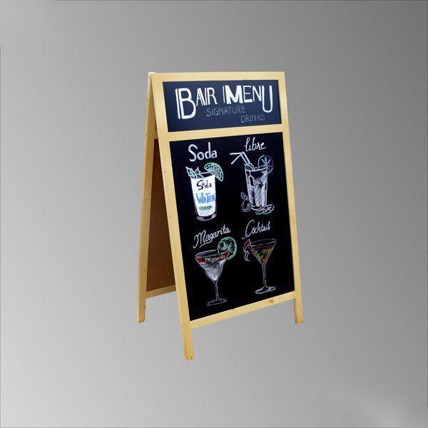 Bảng đen viết menu