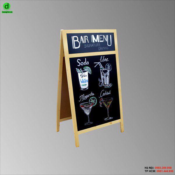 Bảng đen viết menu giá rẻ