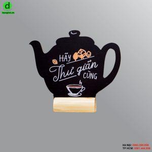 Bảng gỗ để bàn Teapot