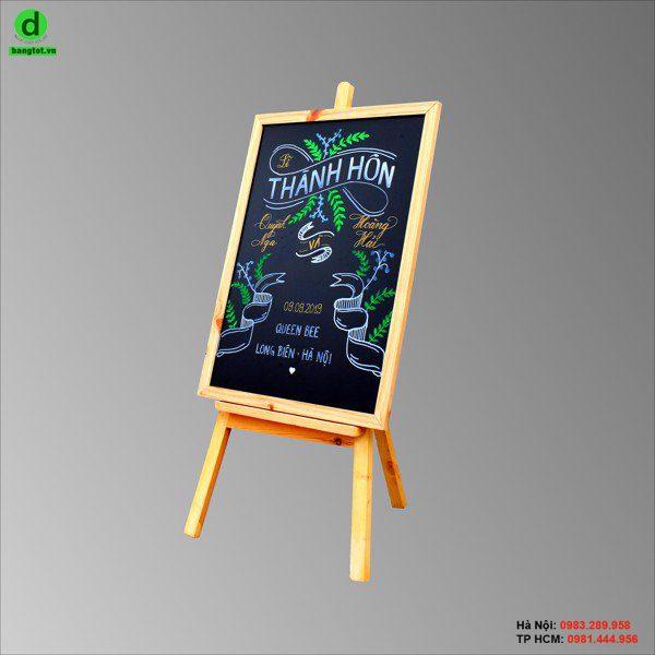 Bảng gỗ menu đen