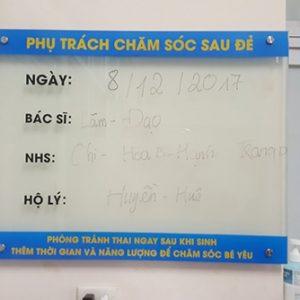 Bảng kính 2 lớp lắp đặt tại Bệnh viện phụ sản Hà Nội