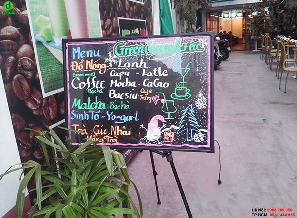 Bảng led huỳnh quang ở quán cafe Hương Việt