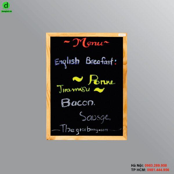 Bảng menu 1 mặt Standa