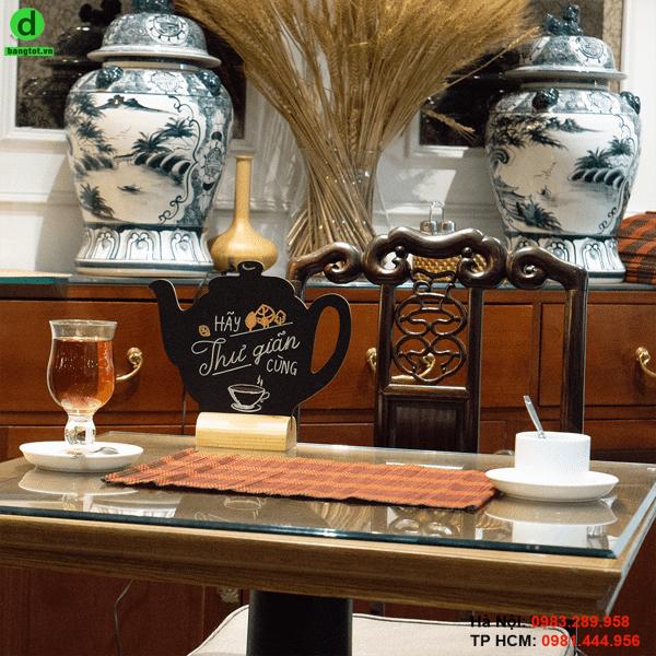 Bảng menu để bàn Teapot
