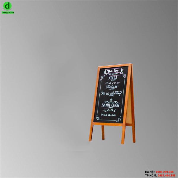 Bảng menu đứng hai mặt