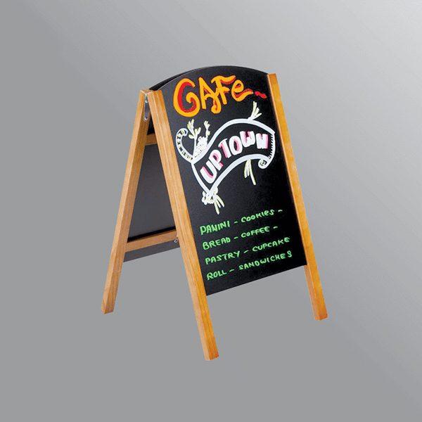 Bảng menu hai mặt đứng