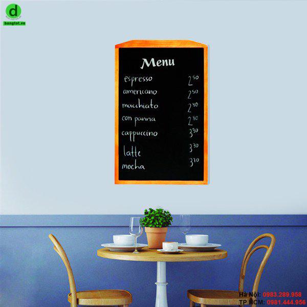 Bảng menu một mặt gỗ đen