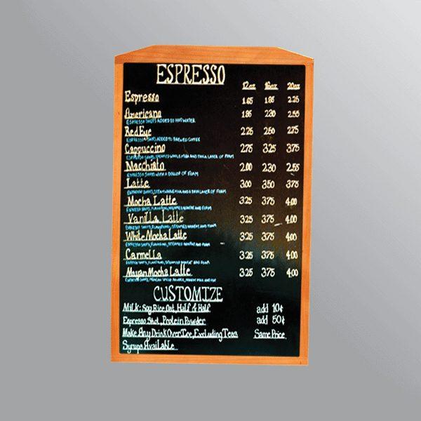 Bảng menu treo tường