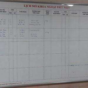 Lắp bảng từ trắng lịch công tác