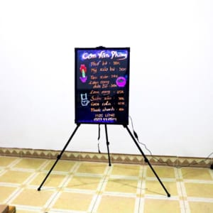 Bảng led dạ quang quảng cáo quán cơm