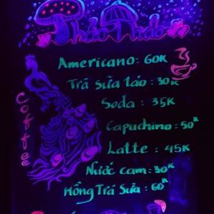 Bảng dạ quang quảng cáo quán cafe
