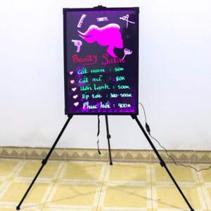 Vẽ trang trí bảng huỳnh quang tiệm tóc