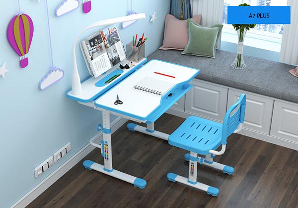 bàn ghế a7 plus màu xanh