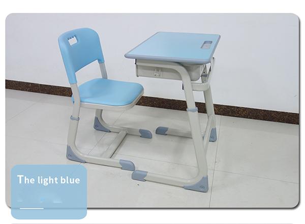 Bàn ghế học sinh màu xanh biển
