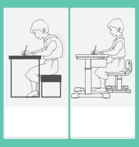 bàn ghế học tập chống gù lưng