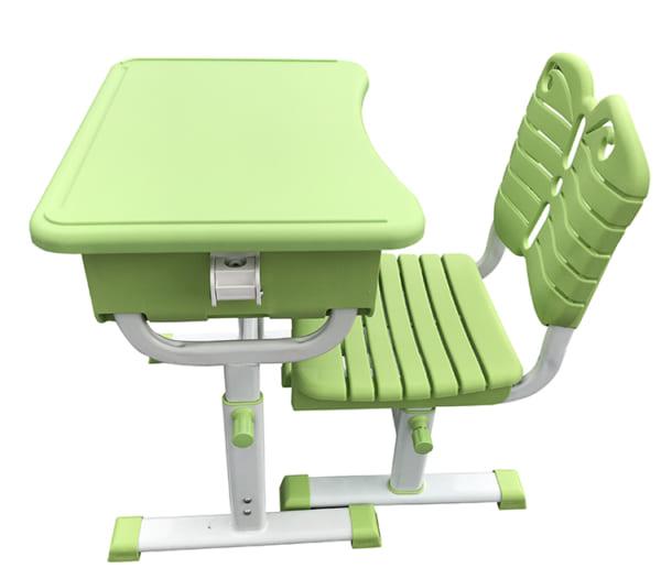 Bàn ghế học sinh màu xanh lá
