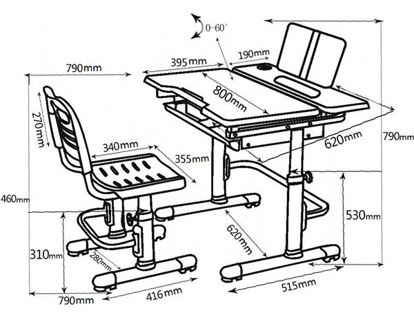 Kích thước bàn ghế Q8