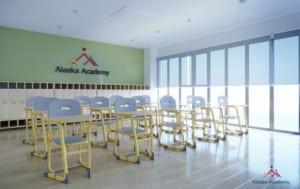 Lắp đặt bàn ghế học tập đơn tại trường tiểu học Alaska