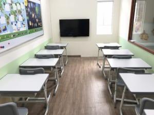 Bàn ghế trung tâm dạy học tại trung tâm tiếng Nhật PJC